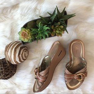 Cole Haan G Series Gold & Rose Gold Sandals